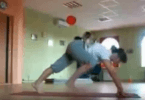chat amateur de yoga