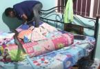 Python trouvé sous le lit